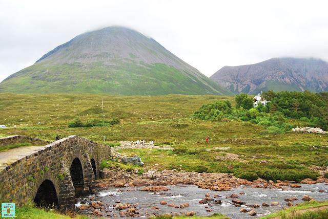 Puente Sligachan, isla de Skye (Escocia)
