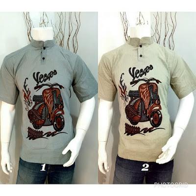 Baju Batik Koko Etnic kode C