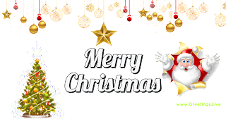 Merry Christmas greetings png Santa Claus is coming