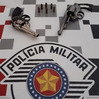 POLÍCIA MILITAR PRENDE HOMEM COM DUAS ARMAS AMEAÇANDO EX-ESPOSA