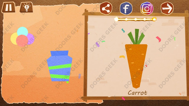 Chigiri: Paper Puzzle Novice Level 5 (Carrot) Solution, Walkthrough, Cheats