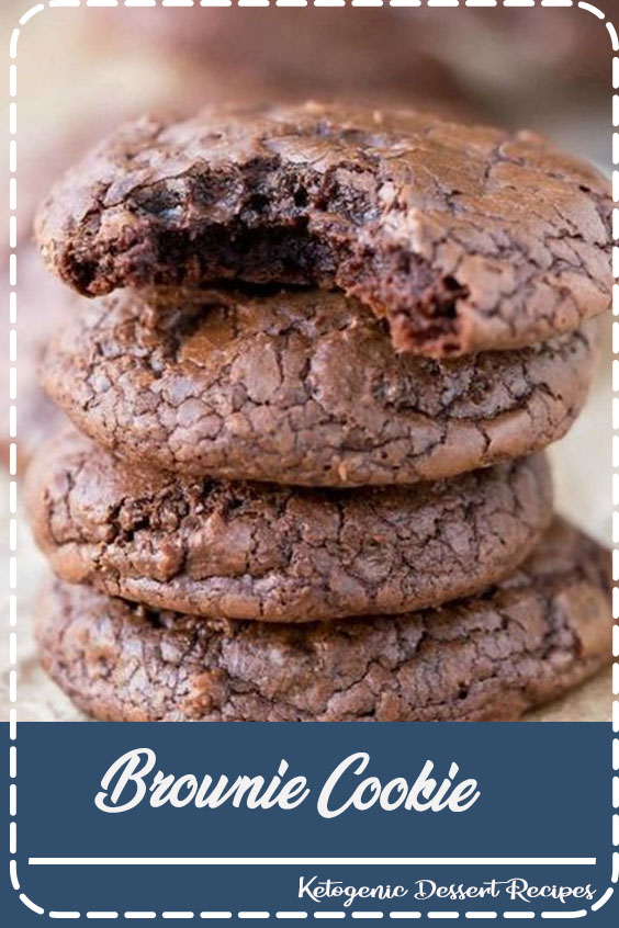 This brownie cookie recipe is all of the good parts of a brownie- crackly crust, fudgy middles, chewy edges, & intense chocolate flavor -in one little cookie