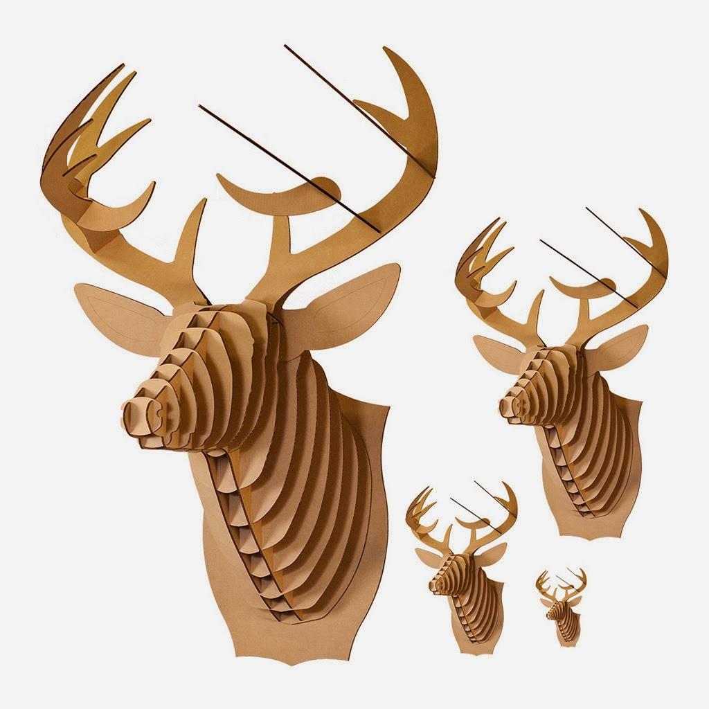 Cardboard Deer Head Trophy