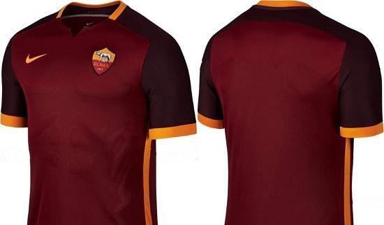 Mẫu áo mới AS Roma vẫn giữ nguyên màu truyền thống.