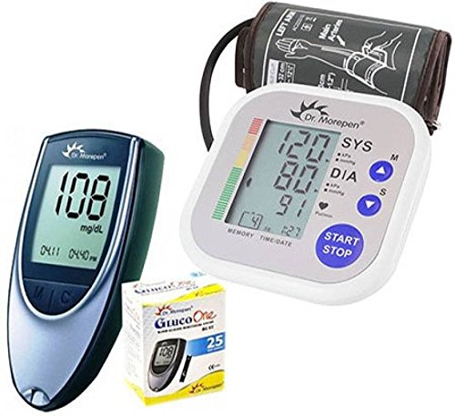 Dr. Morepen BP02 Blood Pressure Monitor and BG03 Glucose Check Monitor Combo