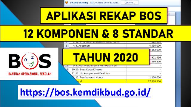 aplikasi rekap BOS 12 Komponen Tahun 2020