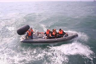 Rescate en aguas del mar Amarillo