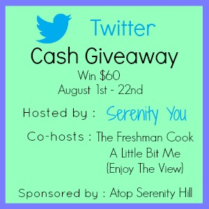 Enter to win $60 cash to celebrate Serentiy You hitting 2000 Twitter followers. Ends 8/22.