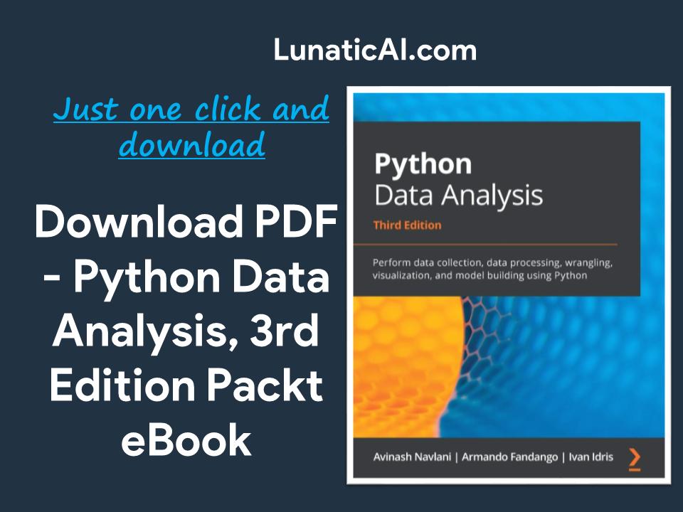 Python Data Analysis, 3rd Edition Packt PDF