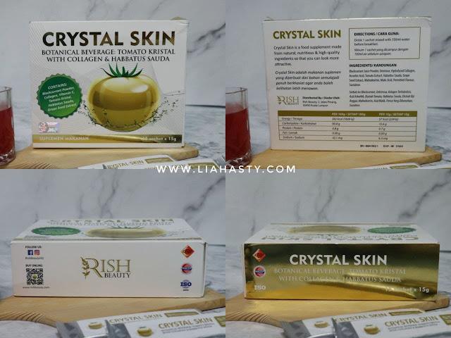 Suplemen Crystal Skin untuk mencantikkan & merawat kulit dari luar & dalam