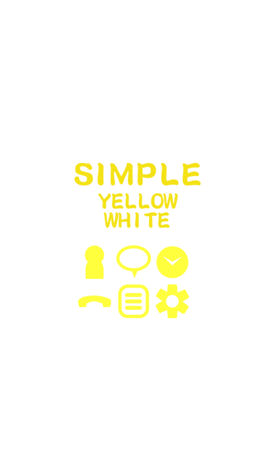 SIMPLE yellow×white