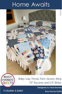 Home Awaits Quilt Pattern by Myra Barnes of Busy Hands Quilts