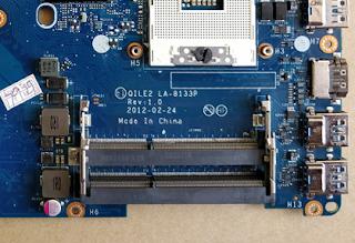 Lenovo ThinkPad Edge E530 Motherboard  LA-8133p Rev 1.0 Laptop Bios