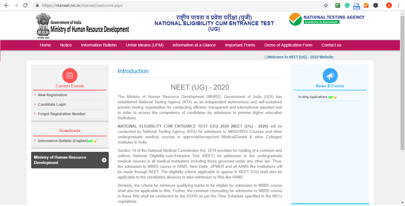 how to fill online application form Neet 2021