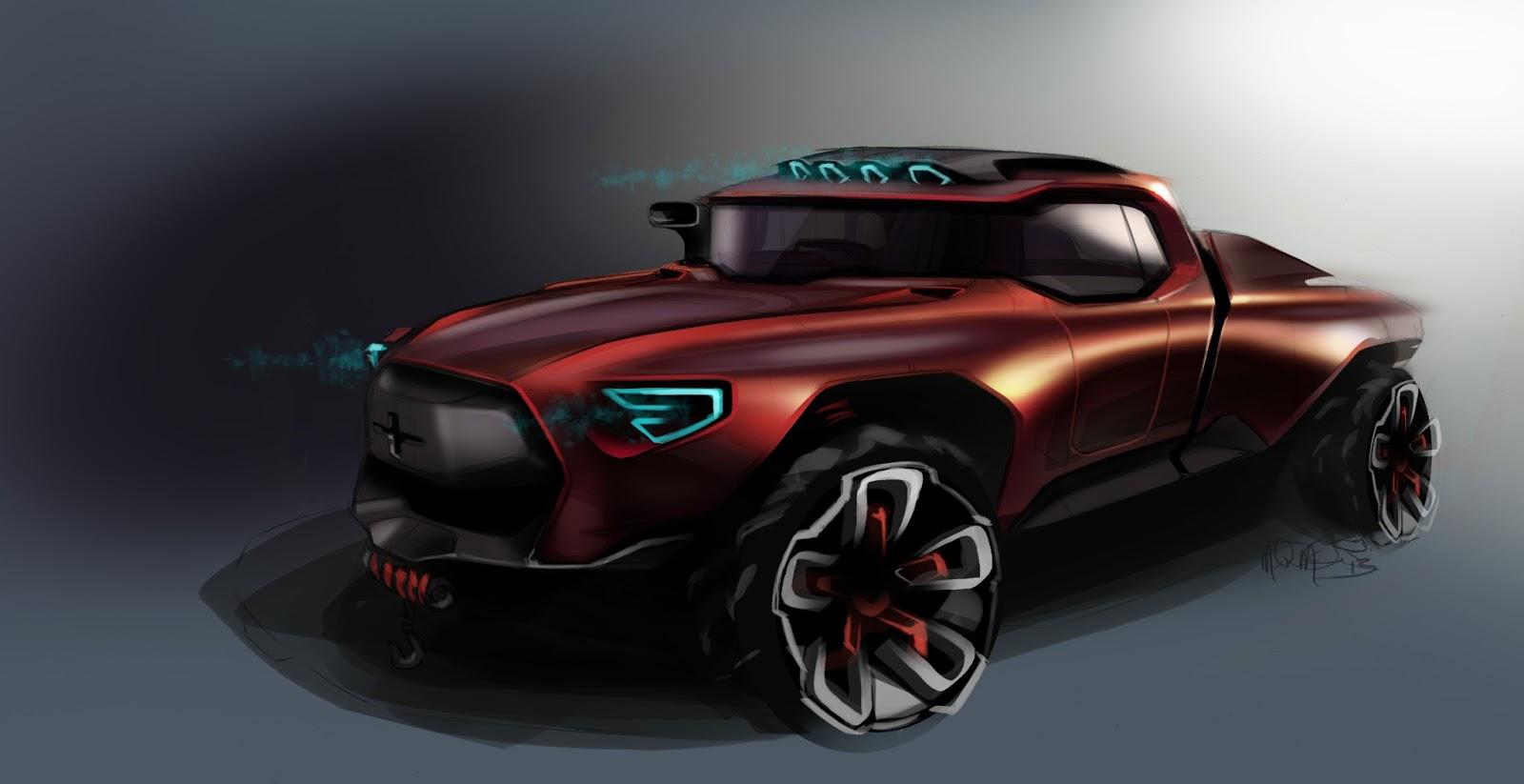 Mcgee Car Design Ram Truck Rendering