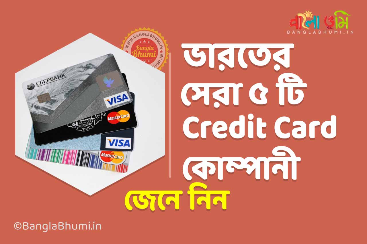 Top 5 Credit Card Companies in India?
