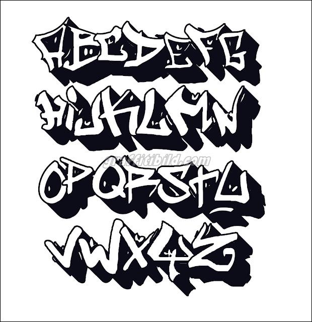 graffiti abc buchstaben vorlagen