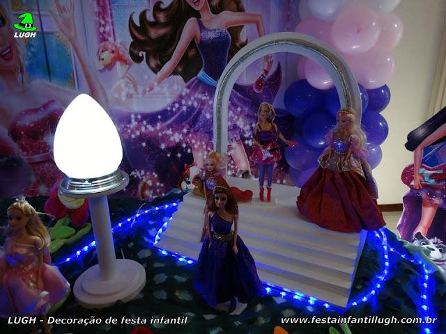 Decoração tema Barbie Pop Star