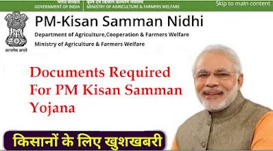 documents-required-pm-kisan-samman-nidhi-scheme