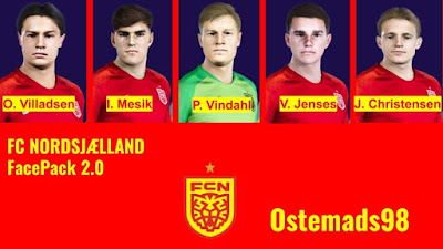 PES 2021 FC Nordsjælland Facepack V2 by Ostemads98