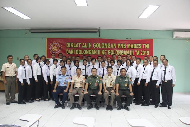 Tingkatkan Kualitas SDM, 80 PNS Mabes TNI Diklat