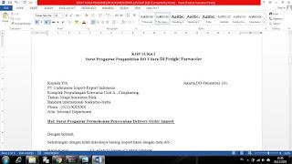 Contoh surat kuasa impor barang udara lengkap
