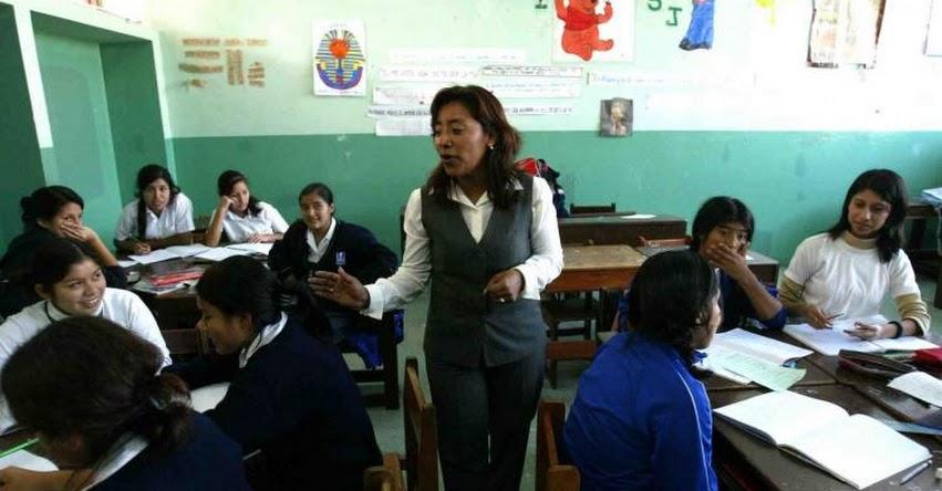 Según MINEDU, desde hoy ningún profesor en el Perú gana menos de S/. 1,780