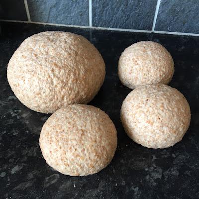 Bread dough portions