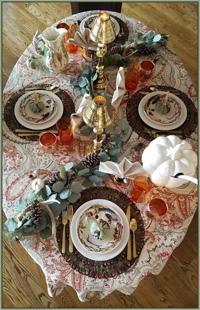 Forest Walk Thanksgiving Tablescape at Panoply featured on Pieced Pastimes