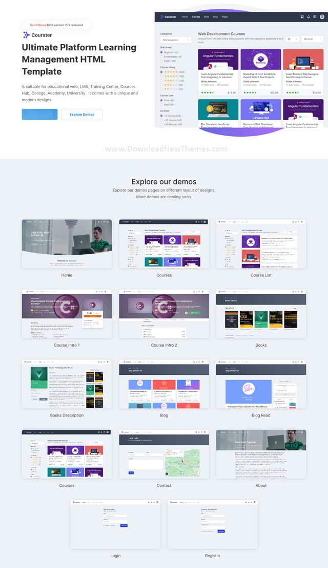 Educational Platform and Learning System Template