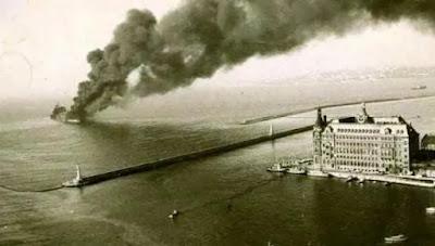Independenta Yangını ve Haydarpaşa Garı - İstanbul