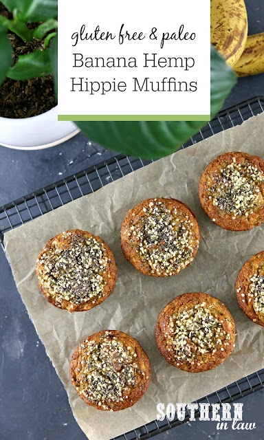 Gluten Free Paleo Banana Muffins Recipe - hippie muffins, chia seeds, hemp seeds, paleo, gluten free, grain free, sugar free