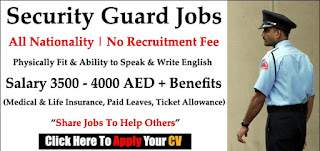 Requirement Security Guards Jobs Vacancy in Global HR Consultancy Location Dubai