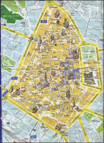 Plan du centre ville de Lecce