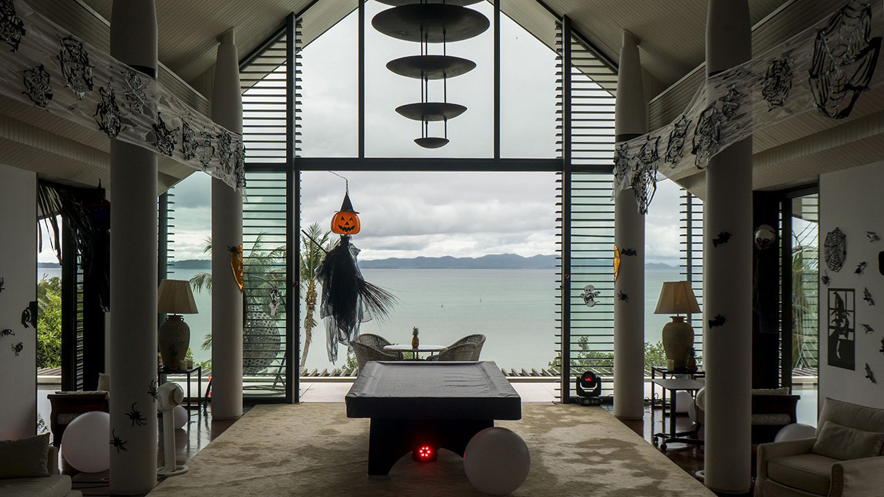 Private villa on Phuket with decoration for Halloween 2020