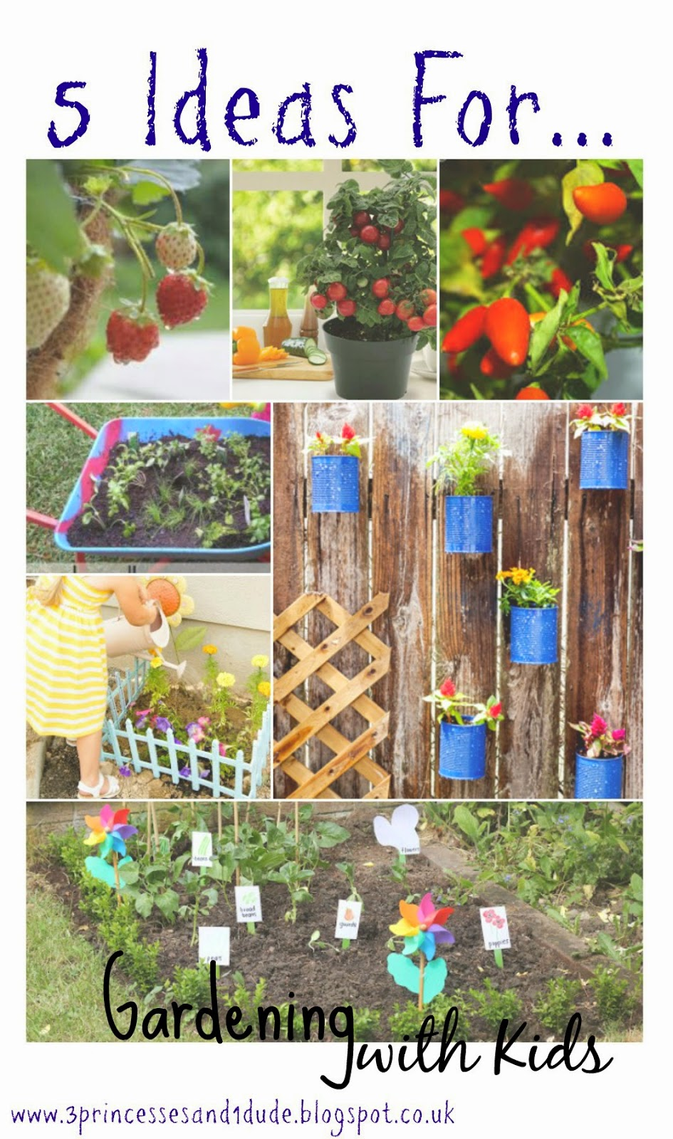 3 Princesses And 1 Dude! 5 Ideas For Gardening With Kids