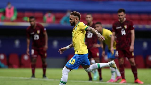 3 a 0: Sem sustos, Brasil atropela Venezuela em estreia na Copa América; Neymar marca e se aproxima ainda mais de Pelé.