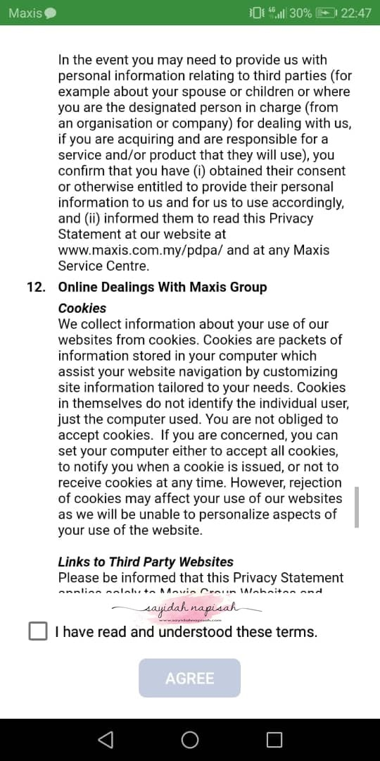 cara log masuk mymaxis app 2020