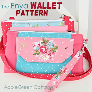 wallet pattern with wristlet strap