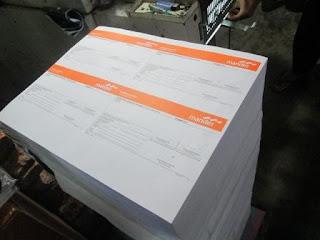 Menerima cetak buku nota, formulir, faktur dan lain-lain
