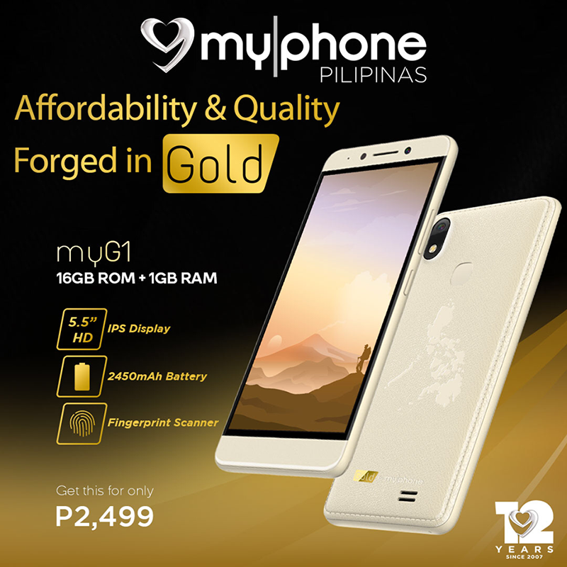 MyPhone myG1 announced, 5.5-inch HD screen + 1GB RAM for PHP 2,499