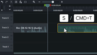 Edit Klip Audio camtasia