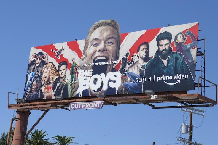 Boys season 2 extension cutout billboard