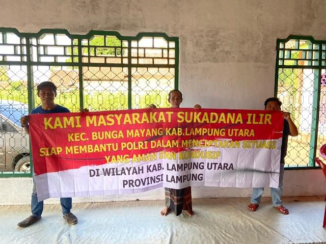 Polda Lampung Silaturahmi dengan Masyarakat Desa Sukadana Lampung Utara