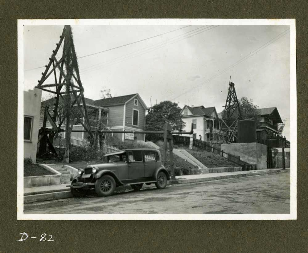 Oil Wells on Court Street from Bixel. Anton Wagner (Photographer), 1933, gelatin silver print, California Historical Society, CHS2012.833.