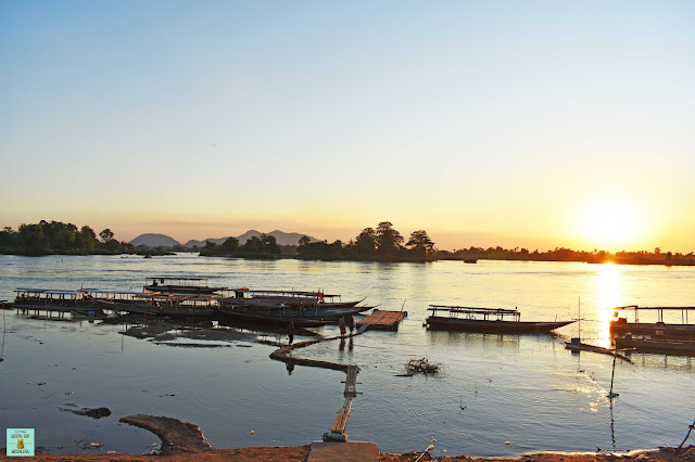 Atardecer en las 4.000 islas de Laos