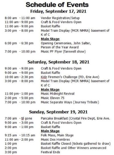 9-17/18/19 Bavarian Fest, St. Marys, PA