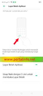 Cara split layar membuka 2 aplikasi secara bersamaan di Realme 5