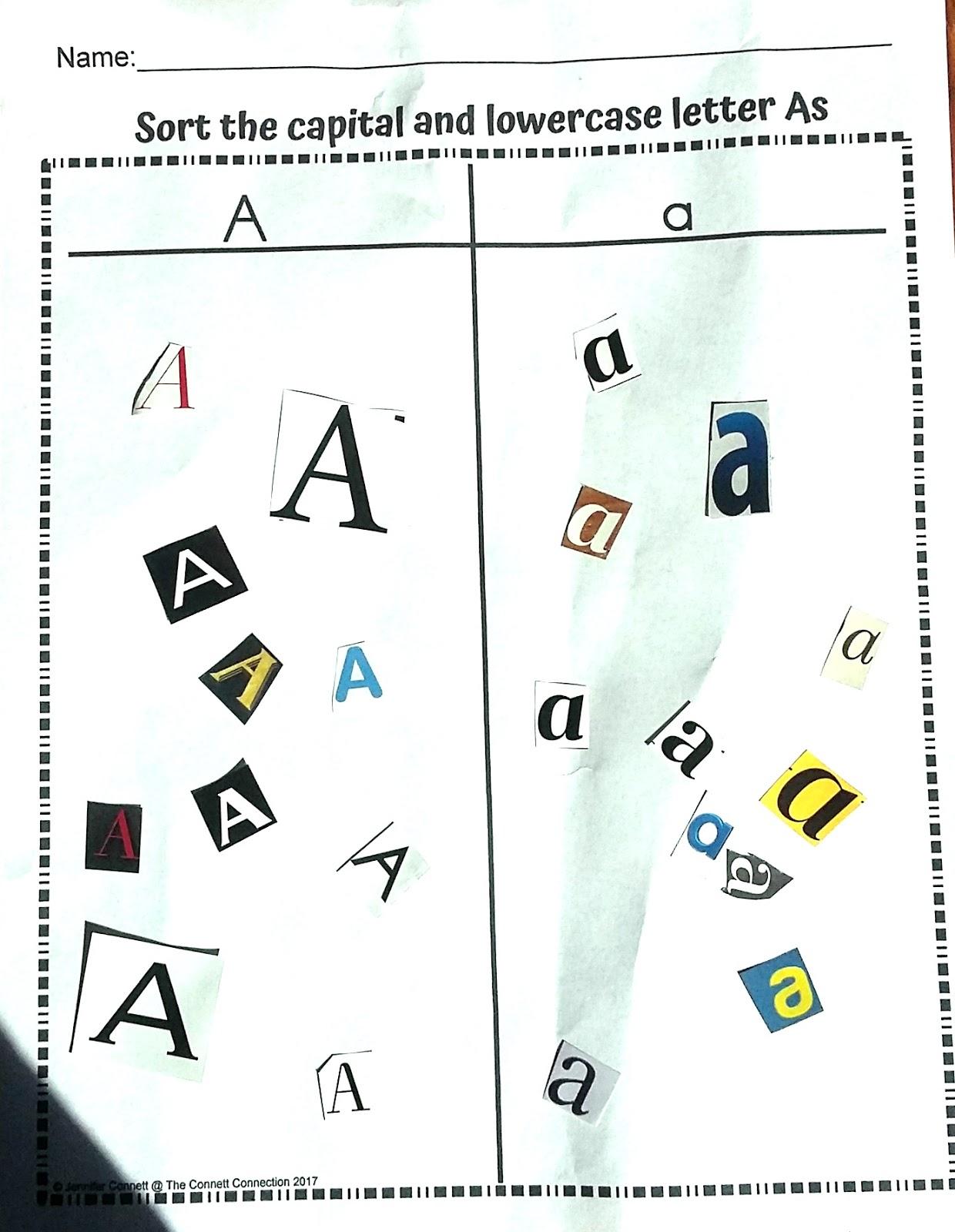 Alphabet Center Packets