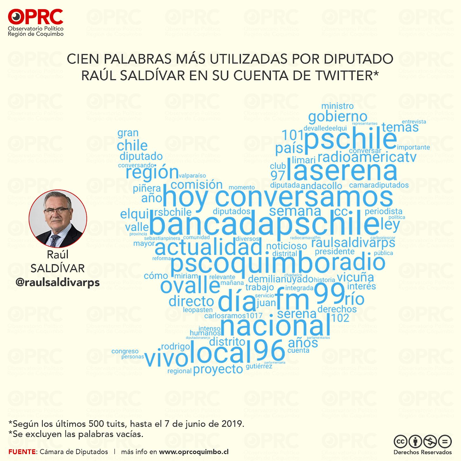 Palabras más usadas por Diputado Raúl Saldívar en Twitter